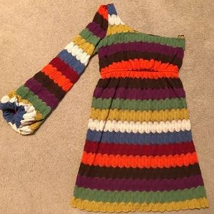 Judith March Chevron Dress Sz Small